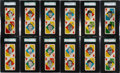 Baseball Cards:Sets, 1951 Topps Red Back Uncut Panels Complete Set (28) - #1 on the SGC Set Registry! ...
