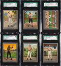 Boxing Cards:General, 1910 T220 Mecca Boxers Silver Borders SGC Graded Partial Set(12/26). ...