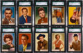 """Non-Sport Cards:Sets, 1953 Topps """"Who-Z-at Star"""" SGC Graded Partial Set (28)...."""