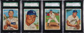 Baseball Cards:Sets, 1973 Topps '53 Reprints SGC Graded Partial Set (4). ...
