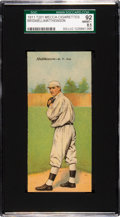 Baseball Cards:Singles (Pre-1930), 1911 T201 Mecca Double Folders Mathewson/Bridwell SGC 92 NNM/MT+8.5 - A Pop One Condition Rarity! ...