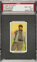 Baseball Cards:Singles (Pre-1930), 1909-11 T206 Old Mill Nap Lajoie, Throwing PSA NM-MT+ 8.5 - PopOne!...