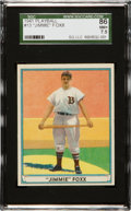 Baseball Cards:Singles (1940-1949), 1941 Play Ball Jimmie Foxx #13 SGC 86 NM+ 7.5....
