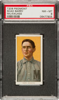 Baseball Cards:Singles (Pre-1930), 1909-11 T206 Piedmont Shad Barry PSA NM-MT 8 - Highest GradeAvailable....
