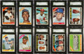 Baseball Cards:Lots, 1966 and 1967 Topps Baseball High Grade Collection (518) With Over50 Graded Cards...