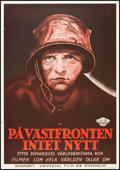 "Movie Posters:Academy Award Winners, All Quiet on the Western Front (Universal, 1930). Swedish One Sheet(27.5"" X 39.5""). Academy Award Winners.. ..."