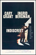 """Movie Posters:Romance, Indiscreet (Warner Brothers, 1958). Autographed One Sheet (27"""" X 41""""). Romance.. ..."""