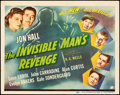 """Movie Posters:Horror, The Invisible Man's Revenge (Universal, 1944). Title Lobby Card (11"""" X 14""""). Horror.. ..."""