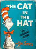 "Books:Children's Books, Dr. Seuss. The Cat in the Hat. [New York]: Random House,[1957]. First edition, first printing, with ""200/200"" on fr..."
