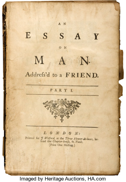 Alexander Pope An Essay On Man Epistle Iv With Two Copies Of  Epistle  Booksphilosophy Alexander Pope An Essay On Man