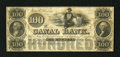 Obsoletes By State:Louisiana, New Orleans, LA- Canal Bank $100 18__.. A pleasing remainder with bold color. Choice Crisp Uncirculated....