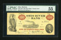 Obsoletes By State:Ohio, Mariette, OH- Ohio River Bank $100 June 15, 1838. ...