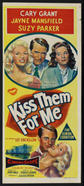 "Movie Posters:Comedy, Kiss Them for Me (20th Century Fox, 1957). Australian Daybill (13"" X 30""). Comedy. ..."