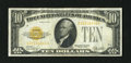Small Size:Gold Certificates, Fr. 2400 $10 1928 Gold Certificate. Very Fine.. Decent golden color remain on this relatively unsoiled and evenly circulated...
