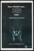 "Movie Posters:Horror, Ben Lot (MGM, 1972). One Sheets (2) (27"" X 41"") Regular and Advance. Horror. ... (Total: 2 Items)"