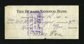 National Bank Notes:Oklahoma, Durant, OK - The Durant NB Check Ch. # 5590. This is a paid 1911 check on this bank. The back has pay to the order of st...