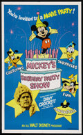 "Movie Posters:Adventure, Mickey's Birthday Party Show (Buena Vista, 1978). One Sheet (27"" X41""). Adventure. ..."