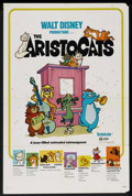 "Movie Posters:Animated, The Aristocats (Buena Vista, R-1980). One Sheet (27"" X 41"").Animated. ..."
