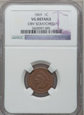 Indian Cents: , 1869 1C -- Obverse Scratched -- NGC Details. VG. NGC Census:(22/523). PCGS Population (38/661). Mintage: 6,420,000. Numism...