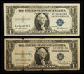 Error Notes:Error Group Lots, Fr. 1613N $1 1935D Narrow Silver Certificate. Very Good;. Fr. 1615$1 1935F Silver Certificate. Very Fine.. ... (Total: 2 notes)