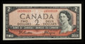 Canadian Currency: , BC-38a $2 1954. ...