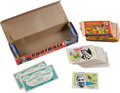Football Cards:Lots, 1961 Nu-Card Football Display Box With 24 Wrappers, Coupons and 81 Cards....