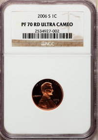 (2)2006-S 1C PR70 Red Ultra Cameo NGC. NGC Census: (958). PCGS Population (291). Numismedia Wsl. Price for problem free...