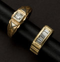 Estate Jewelry:Rings, Two Diamond & Gold Rings Gent's & A Lady's. ... (Total: 2Items)