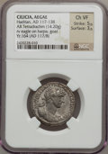 Ancients:Roman Provincial , Ancients: CILICIA. Aegeae. Hadrian (AD 117-138). BI tetradrachm(14.20 gm). ...