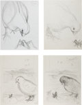 Books:Children's Books, Garth Williams. Original Preliminary Drawings Prepared forChester Cricket's Pigeon Ride, 1981. Thirteen sheets....(Total: 13 Items)