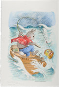 Books:Children's Books, [Garth Williams]. Rosemary Wells. Illustration by Garth Williamsfor Benjamin's Treasure, on page eight, adapted...