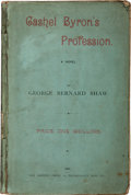 Books:Literature Pre-1900, George Bernard Shaw. Cashel Byron's Profession. ANovel. London: The Modern Press, 1886. First edition ofShaw's...