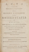 Books:Americana & American History, Acts Passed at the Second Session of the Second Congress of theUnited States of America. Philadelphia: Francis Childs a...