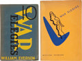 Books:Literature 1900-up, William Everson. X War Elegies. Waldport, Oregon: UntidePress, 1943. First edition (mimeographed). [and:] War E...(Total: 2 Items)