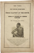 Books:Americana & American History, Mrs. Frances Anne Kemble. The Views of Judge Woodward and BishopHopkins on Negro Slavery at the South. [Philadelphi...