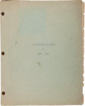Books:Manuscripts, Zane Grey. Typescript for The Adventures of Finspot. [N.p.,n.d., ca. 1930]. Nine pages of typed text on nine qu...