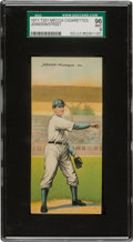 Baseball Cards:Singles (Pre-1930), 1911 T201 Mecca Double Folders Johnson/Street SGC 96 Mint 9 - A PopOne Condition Rarity! ...