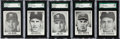 "Baseball Cards:Sets, 1960 Leaf ""Big Heads"" SGC Graded Near Set (5). ..."