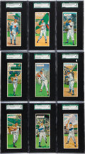 Baseball Cards:Sets, 1955 Topps Double Headers SGC Graded Collection (27). ...