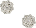 Estate Jewelry:Earrings, Diamond, White Gold Earrings, Asprey. ...
