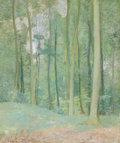 Fine Art - Painting, American, EMIL CARLSEN (American, 1853-1932). Wooded Landscape, circa1911. Oil on canvas. 24 x 19-3/4 inches (61.0 x 50.2 cm). Si...