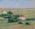 Fine Art - Painting, European, MAXIMILIEN LUCE (French, 1858-1941). Le plan à Guernes. Oil on canvas. 13 x 16 inches (33.0 x 40.6 cm). Signed lower rig...