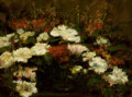 Fine Art - Painting, American:Antique  (Pre 1900), AMERICAN SCHOOL (19th Century). Still Life with Flowers. Oilon canvas. 12 x 16 inches (30.5 x 40.6 cm). Signed indistin...