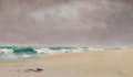 Fine Art - Painting, American:Antique  (Pre 1900), AMERICAN SCHOOL (19th Century). Anastasia Beach, St. Augustine,Florida, 1895. oil on canvas. 7 x 12 inches (17.8 x 30.5...