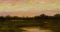 Fine Art - Painting, American:Antique  (Pre 1900), AMERICAN SCHOOL (19th Century). Landscape Study. Oil onboard. 7 x 12-1/2 inches (17.8 x 31.8 cm). Signed indistinctly l...