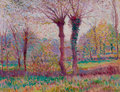 Fine Art - Painting, American:Modern  (1900 1949)  , ALEXANDER WARSHAWSKY (American, 1887-1945). Autumn Afternoon inBrittany, 1911. Oil on artists' board. 10-1/4 x 13-1/2 i...