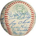 Baseball Collectibles:Balls, 1965 American League All Star Team Signed Baseball (25Signatures)....