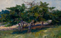 Fine Art - Painting, American:Modern  (1900 1949)  , ARTHUR CUMMING (American, 1847-1913). Landscape with Trees,1900. Oil on canvas. 15 x 24 inches (38.1 x 61.0 cm). Signed...