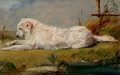 Fine Art - Painting, American:Antique  (Pre 1900), CONRAD WISE CHAPMAN (American, 1842-1910). The Family Dog,1860. Oil on board laid on board. 9 x 14 inches (22.9 x 35.6 ...