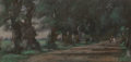 Fine Art - Painting, American:Antique  (Pre 1900), JOSEPH FRANK CURRIER (American, 1843-1909). The Shaded Lane.Pastel. 9 x 19 inches (22.9 x 48.3 cm). Signed lower right ...